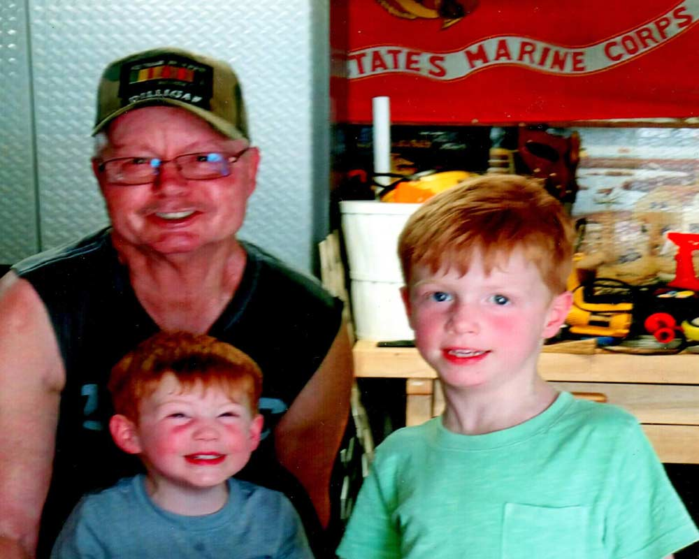 retired sgt USMC with two boys