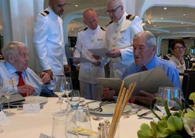 Sarros at-the-captain's-table-on-the-cruise-ship