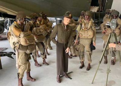 Eisenhower figure with paratroopers