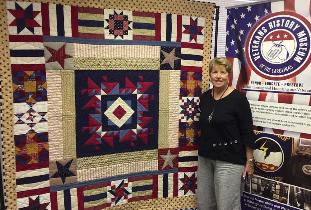 Quilt Raffle; a fund-raiser for the Veterans History Museum of the Carolinas' capital campaign