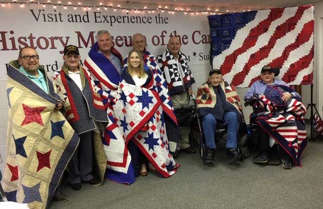 Eight Veterans Receive Quilts of Valor on September 7, 2019