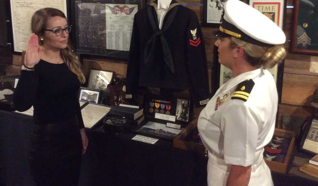 New Ensign Commissioned by U.S. Navy in Veterans Museum