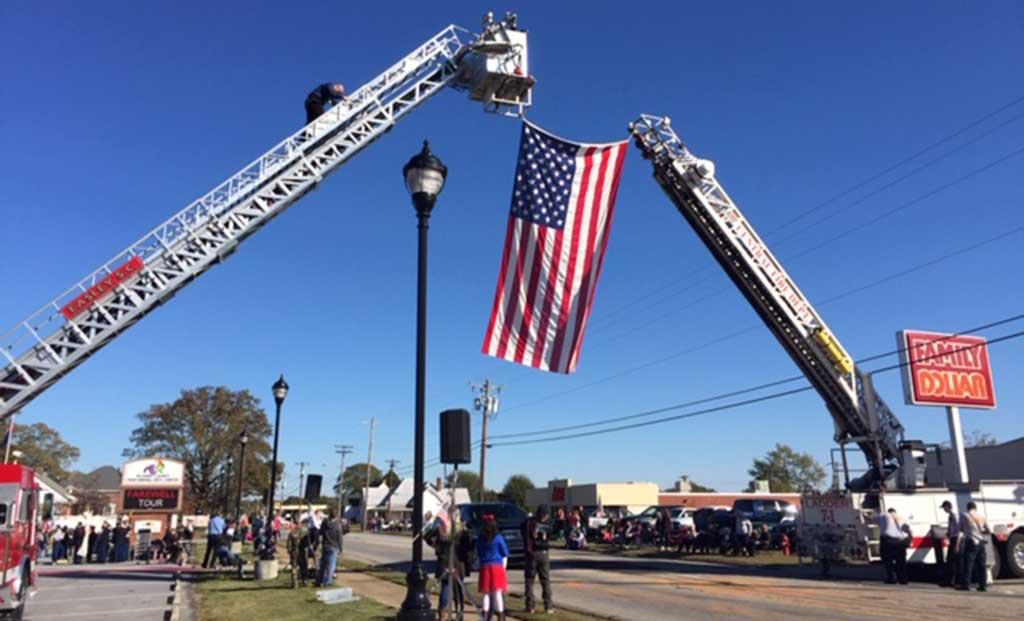 Veterans Museum Participates in Liberty, S.C. Ceremony to Honor Veterans