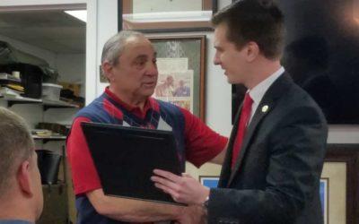 The North Carolina State Legislature honors Museum Founder Emmett Casciato