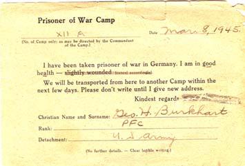prisoner of war camp notice