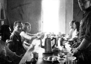 vintage photo of group dining