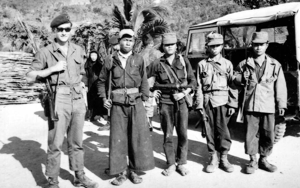 us soldier with montagnards