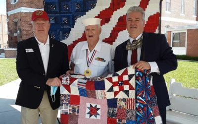 Korean War Veteran Receives Quilt of Valor on July 27, 2020