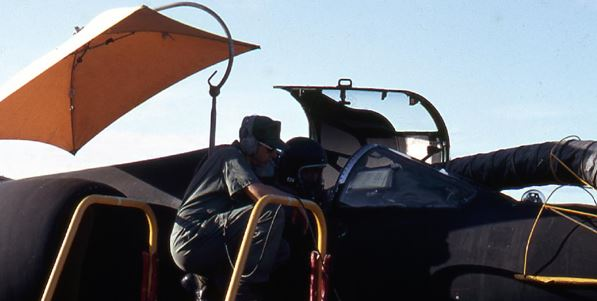 Flying a U-2C with the Canopy Open